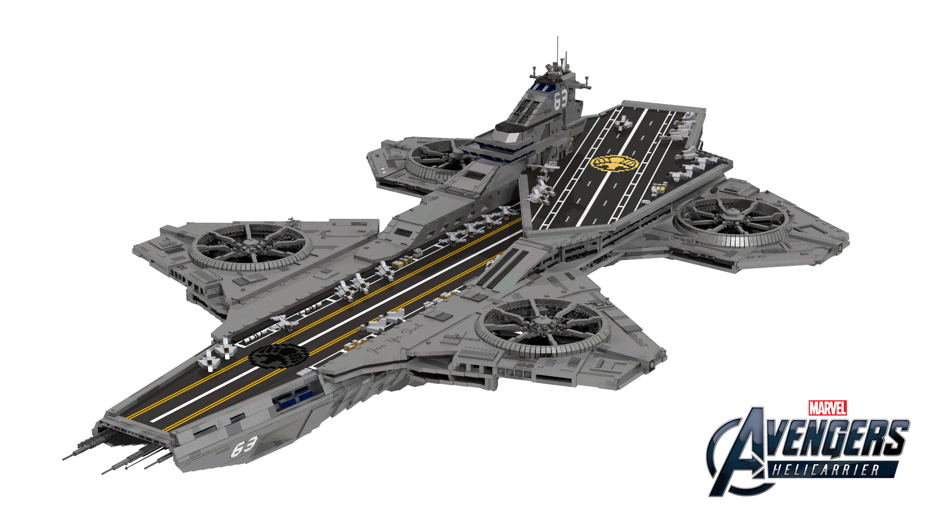 Lego Avengers Helicarrier Created By In Young Joo