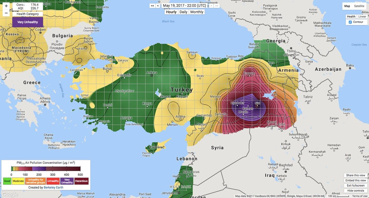 Turkey air pollution map pm25 berkeley earth maps pinterest turkey air pollution map pm25 berkeley earth gumiabroncs Image collections