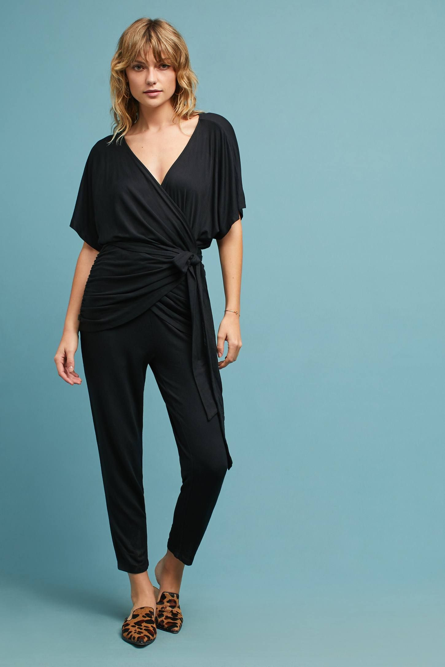 Lace dress in black august 2019 Draped TieWaist Jumpsuit  Anthropologie and Shopping
