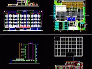 Plan Autocad Dun Hôtel 4 étoiles En Dwg Hôtels Plan Autocad