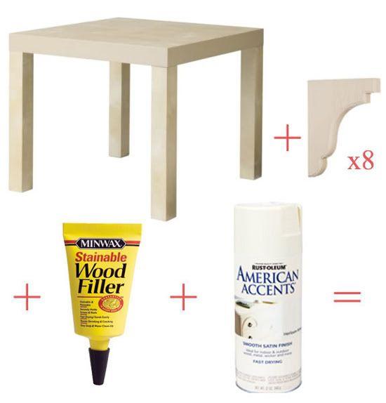 Sofistica una mesa Lack | Mesa lack de ikea, Mesas de ikea
