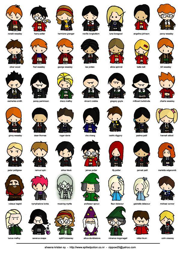Harry Potter Chibi Characters Personnages Harry Potter Poudlard