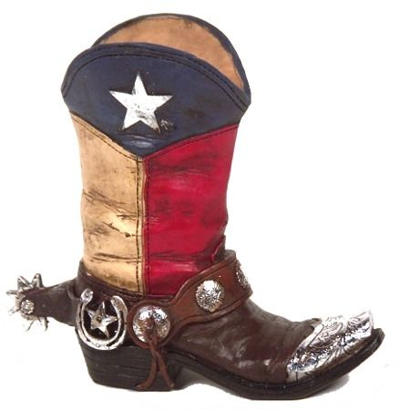 Texas Western Cowboy Boot Vase | MonsterMarketplace.com | A ...