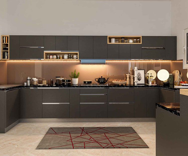 Pin On A Modular Kitchen: Moduler Kitchen, Kitchen Design, Kitchen Interior