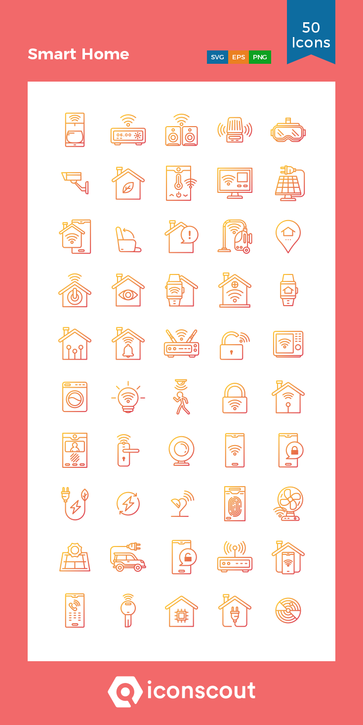 Download Smart Home Icon pack Available in SVG, PNG, EPS