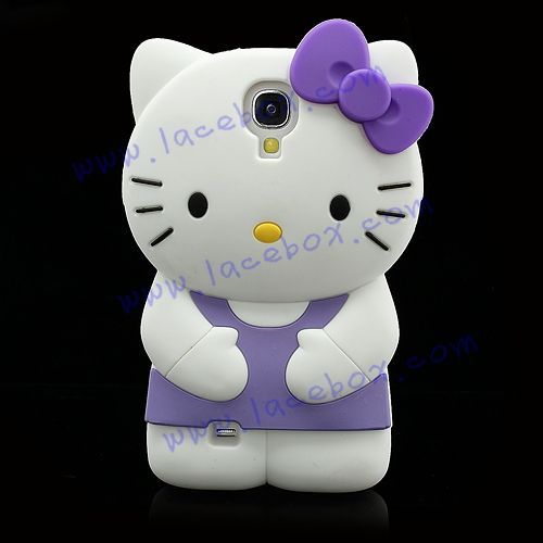 Samsung Galaxy S4 Cute Cases   3D Cute Hello Kitty Soft Silicone Back Case for Samsung Galaxy S4 ...