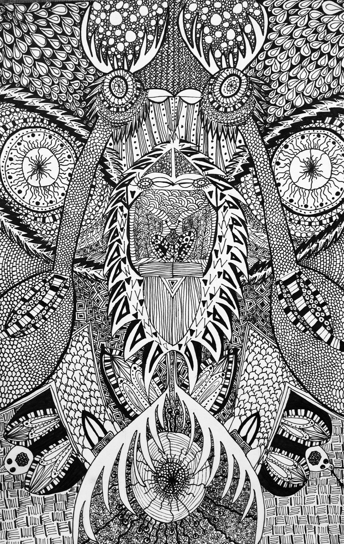 Abstract Hybrid Symmetrical Animal