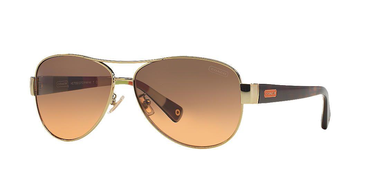 876660764cea3 Coach HC7003 KRISTINA 59 Grey   Gold Sunglasses