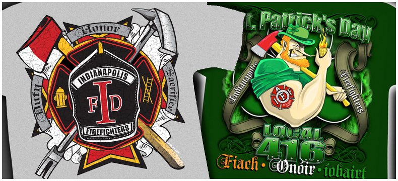 Custom Firefighter T Shirts