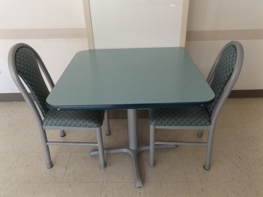 Mts Cafeteria Table W Two Chairs Cafeteria Table Dining Chairs Chair