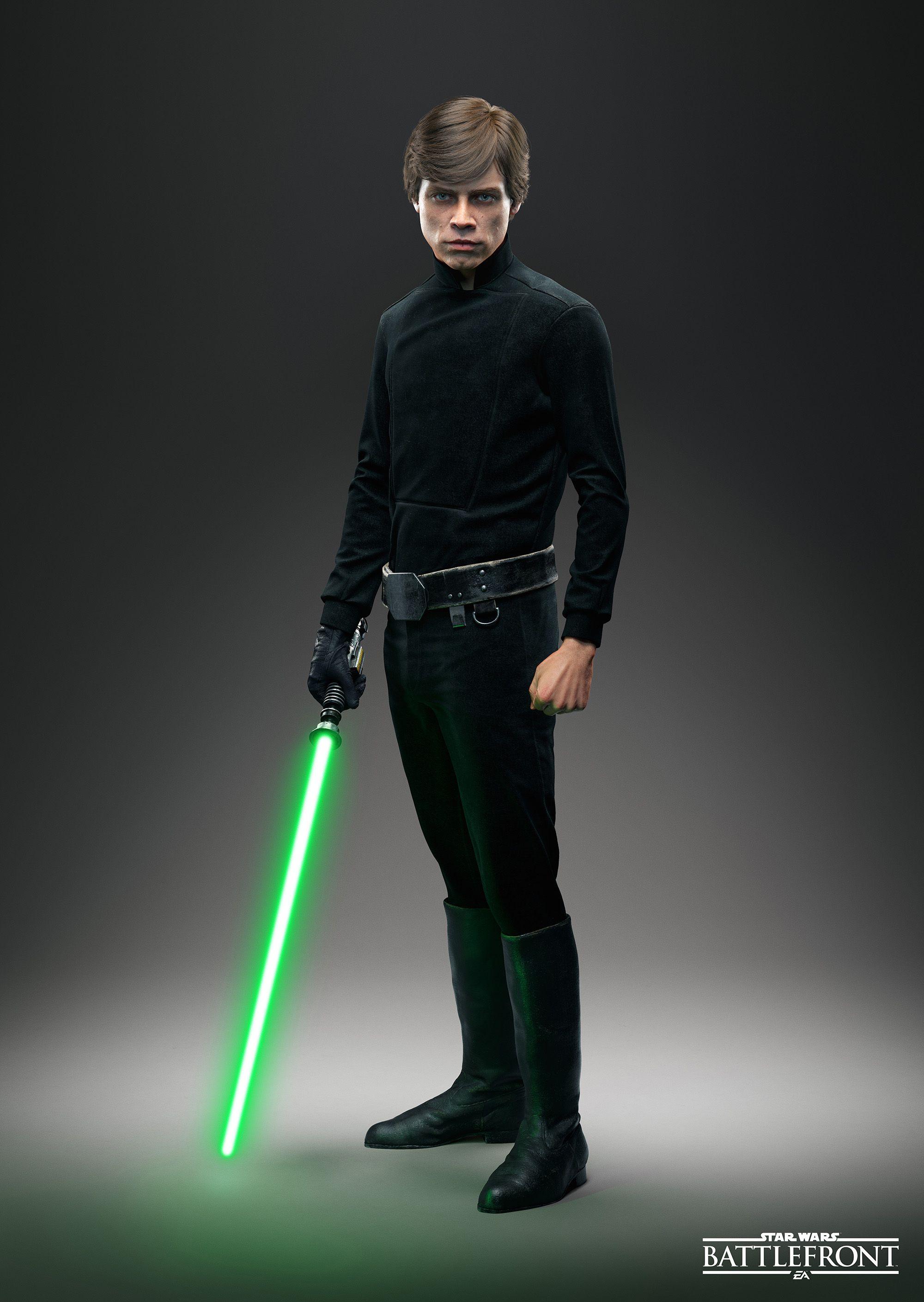 luke skywalker | star wars battlefront - character renders | pinterest