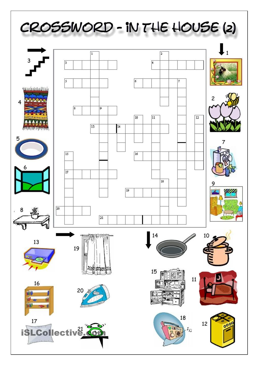 Crossword In The House 2 English Learning For Kids