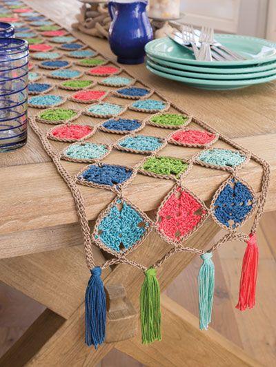 Annies Signature Designs Jubilant Table Runner Crochet Pattern