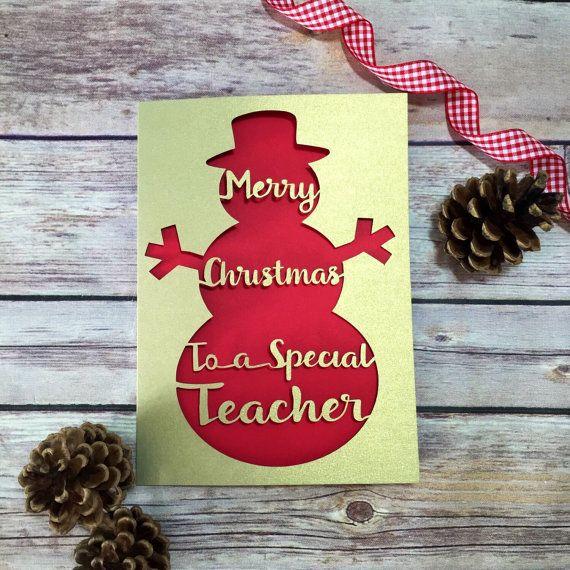 teacher christmas card teacher christmas gift special teacher thank you teacher christmas