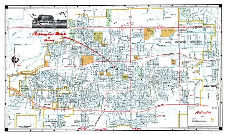 Map Of Texas Arlington.Arlington Texas Ashburn 1960 23 X 38 66 Maps Arlington Texas