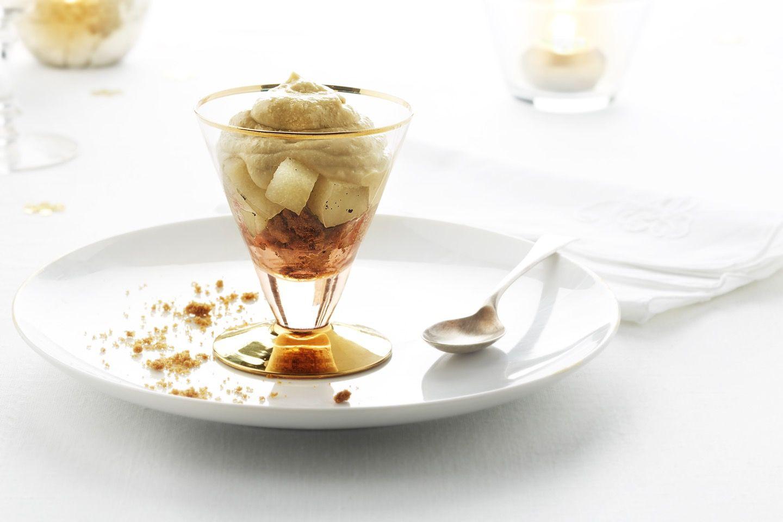 verrine de mousse de foie gras et sp culos poire au vin blanc la vanille de madagascar. Black Bedroom Furniture Sets. Home Design Ideas