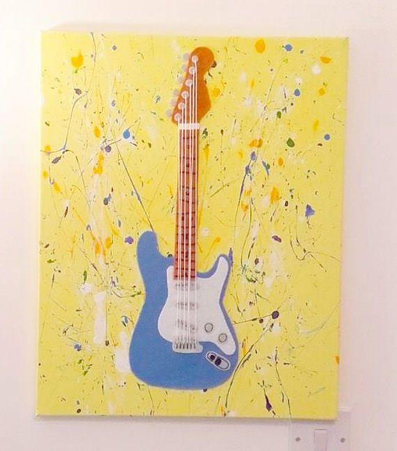 Modern Guitar Canvas Wall Art Gallery - Wall Art Design ...