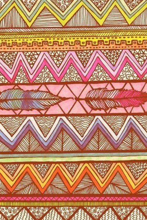 Tribal Chaos En Toch Georganiseerd Structuur Aztec Wallpaper Prints Iphone Wallpaper