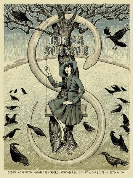 Modern Gigposter Design 100 Stunning Examples Circa Survive Rock Posters Tour Posters