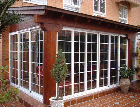 Cerramiento acristalado porche de madera cabellos - Cerramiento aluminio porche ...