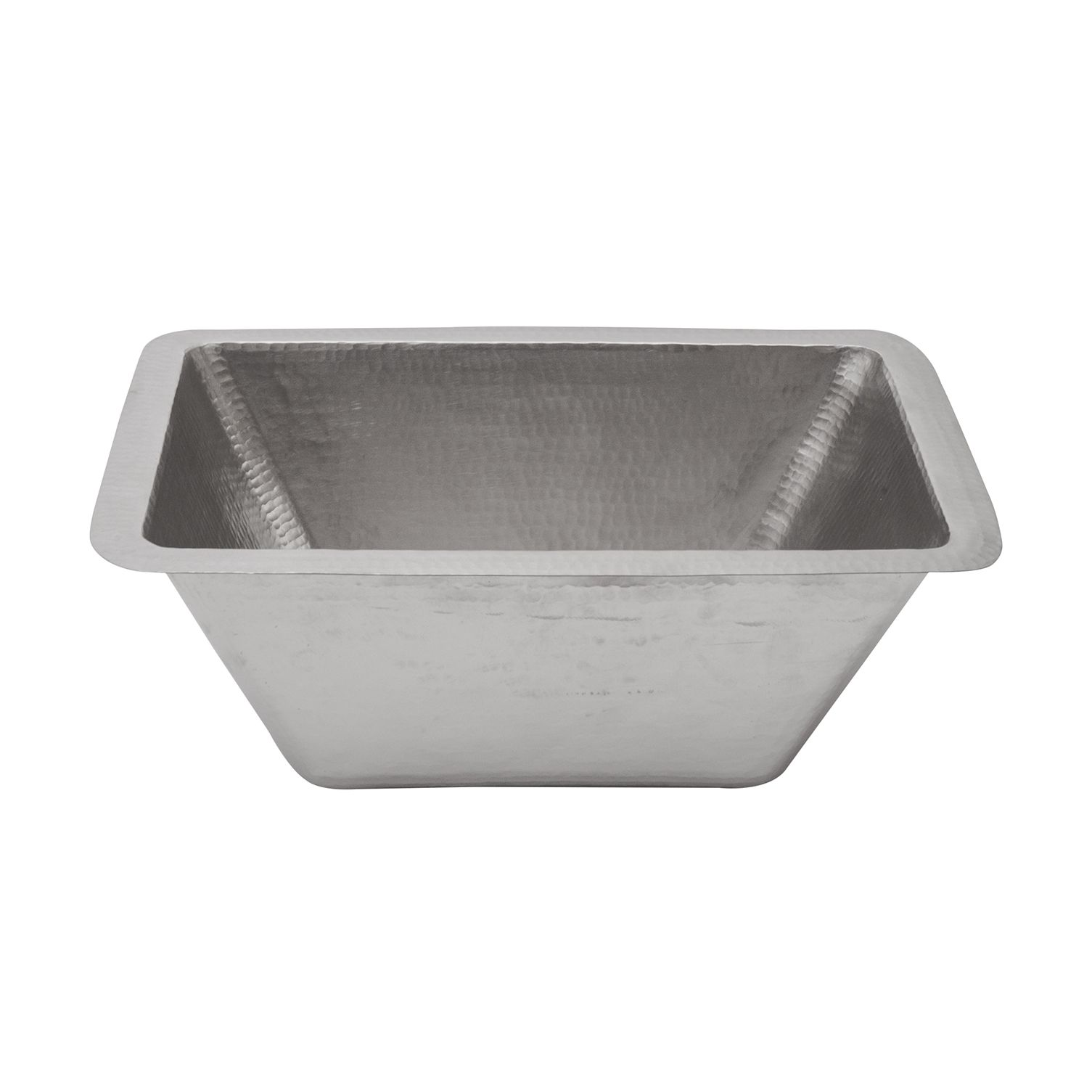 Photo of Premier Copper Products – Rectangle Copper Prep Sink in Nickel w/ 3.5″ Drain Size