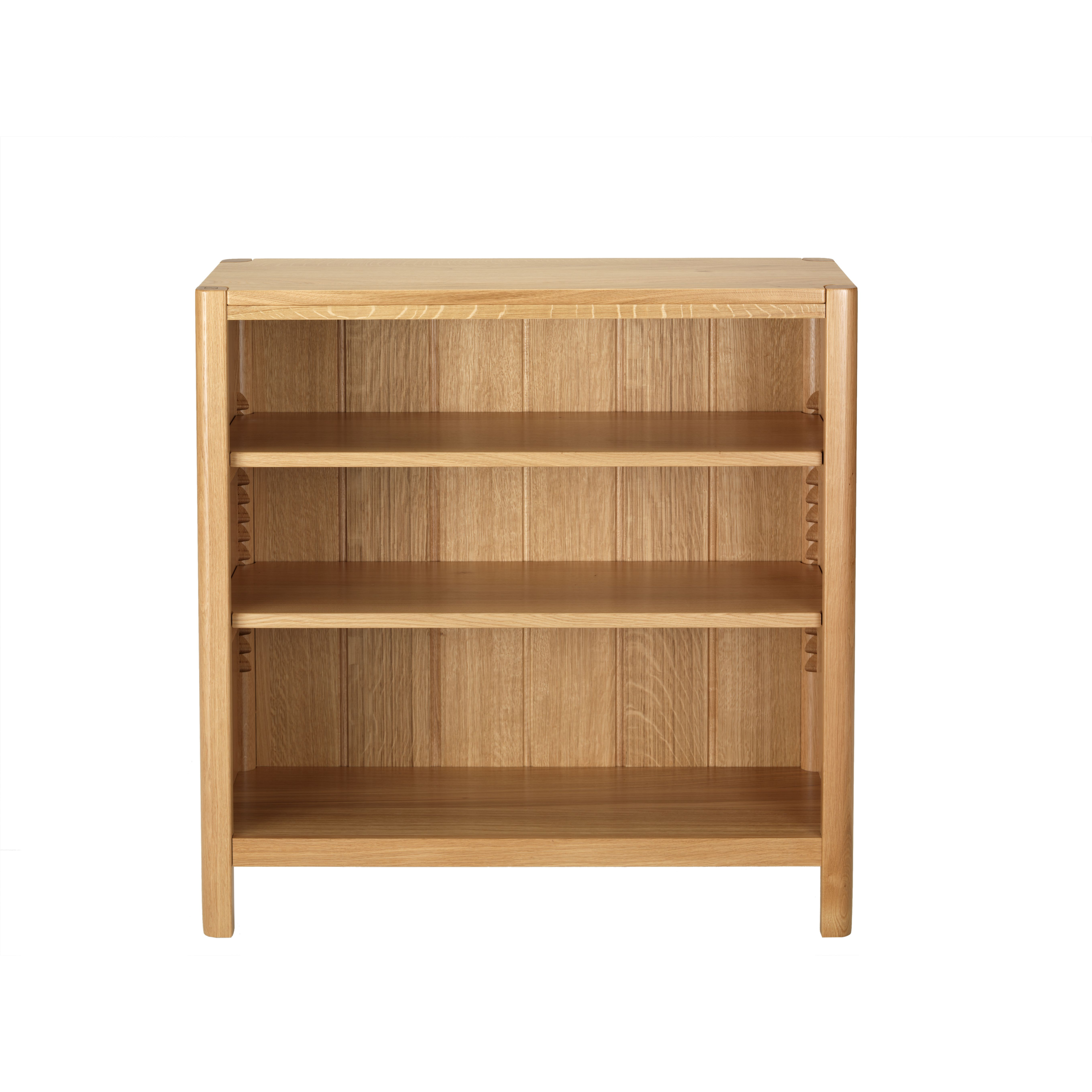 Oak Bookcase Low Wide Shallow Citrus Collection 90 Cm25 Cm90 Cm 399