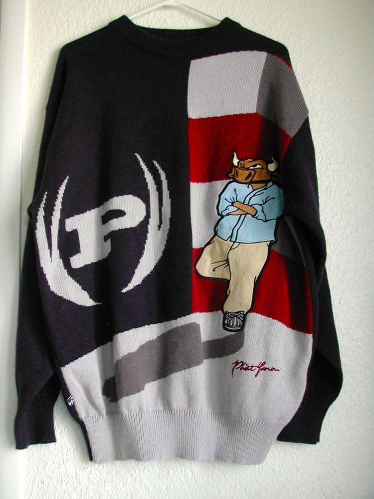 Men\'s Sweater, Phat-Farm, Dark Blue w/ Geometric, 2XL, Crewneck ...
