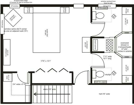 I Like The 2 Separated Toilet Areas Would Work Between 2 Bedrooms As Well In Stead Of A To Master Bedroom Plans Master Bedroom Addition Master Bedroom Layout