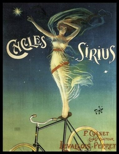 BICYCLE BIKE GIRL CYCLES CLEMENT PARIS GOODESS OF VICTORY VINTAGE POSTER REPRO