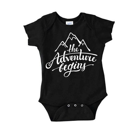 New Baby, The Adventure Begins, Newborn Clothes, Unisex Baby Bodysuit, Hipster Baby Clothes, ... New Baby, The Adventure Begins, Newborn Clothes, Unisex Baby Bodysuit, Hipster Baby Clothes, Baby Shower Gifts, Coming Home Baby Outfit,