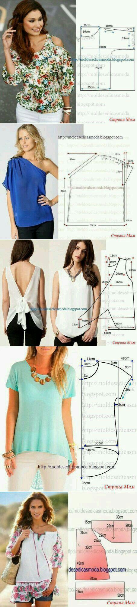 Pin by Norma Ansara on Blouse | Costura, Patrones de costura, Cómo coser