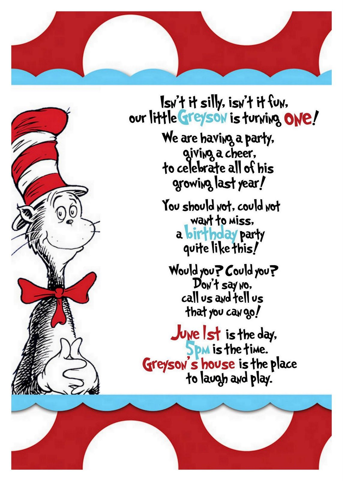 Dr seuss quotes google search kid parties pinterest dr seuss dr seuss cat in the hat baby shower party invitation idea stopboris Gallery