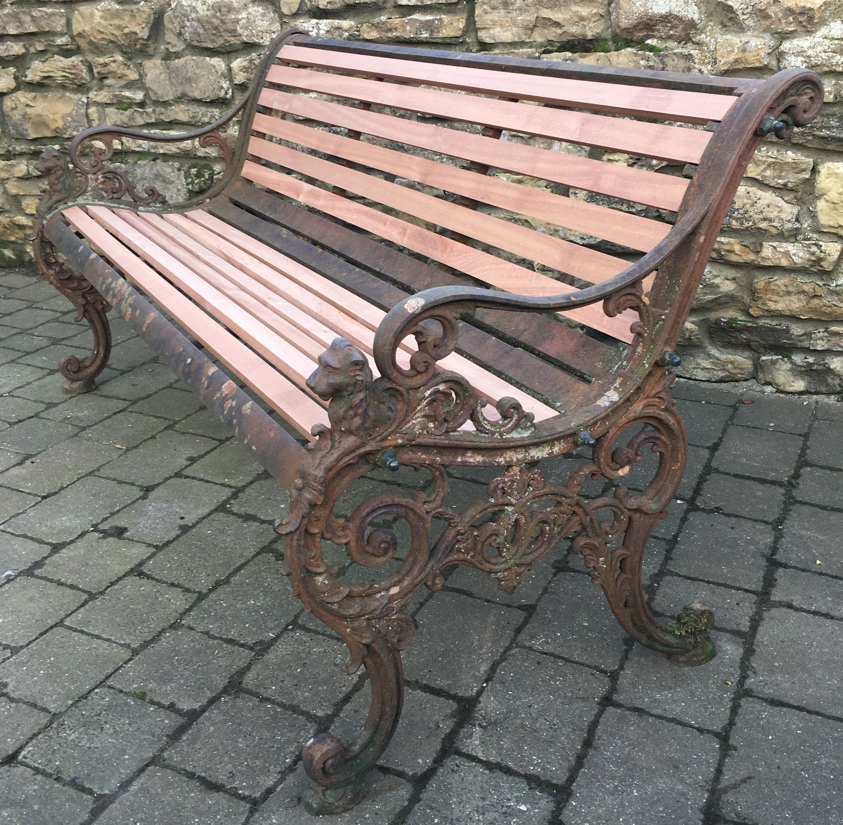 Andrew Mclaren Victorian Cast Iron Bench With New Hardwood Slats