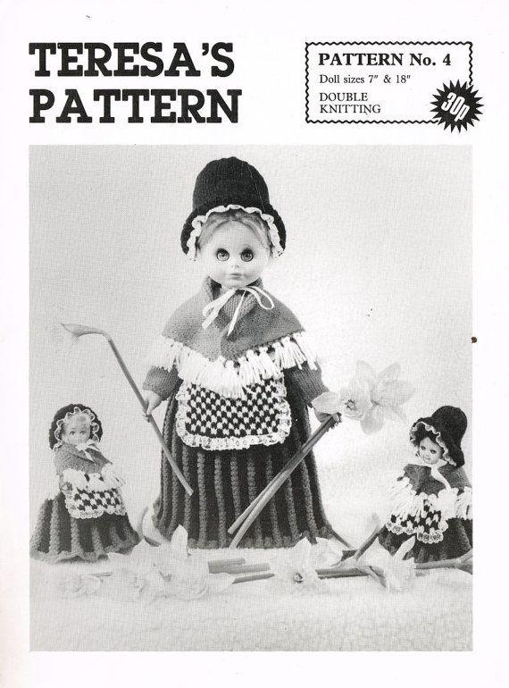 1933bbdc5b8 Welsh doll lady toy vintage knitting pattern PDF instant download ...