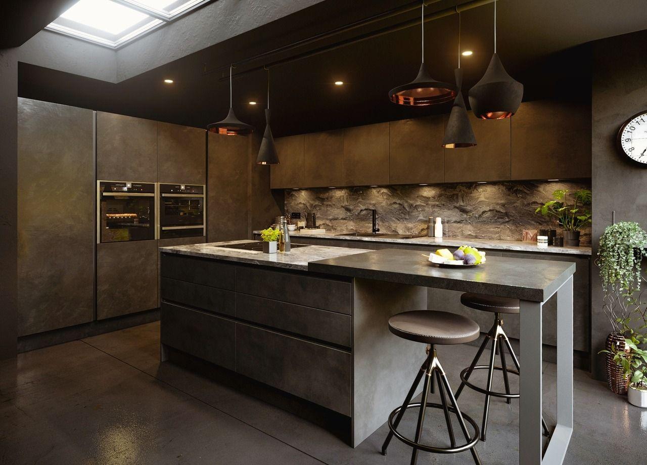 Home Interior Design Underground Themed Kitchen Black Is Back