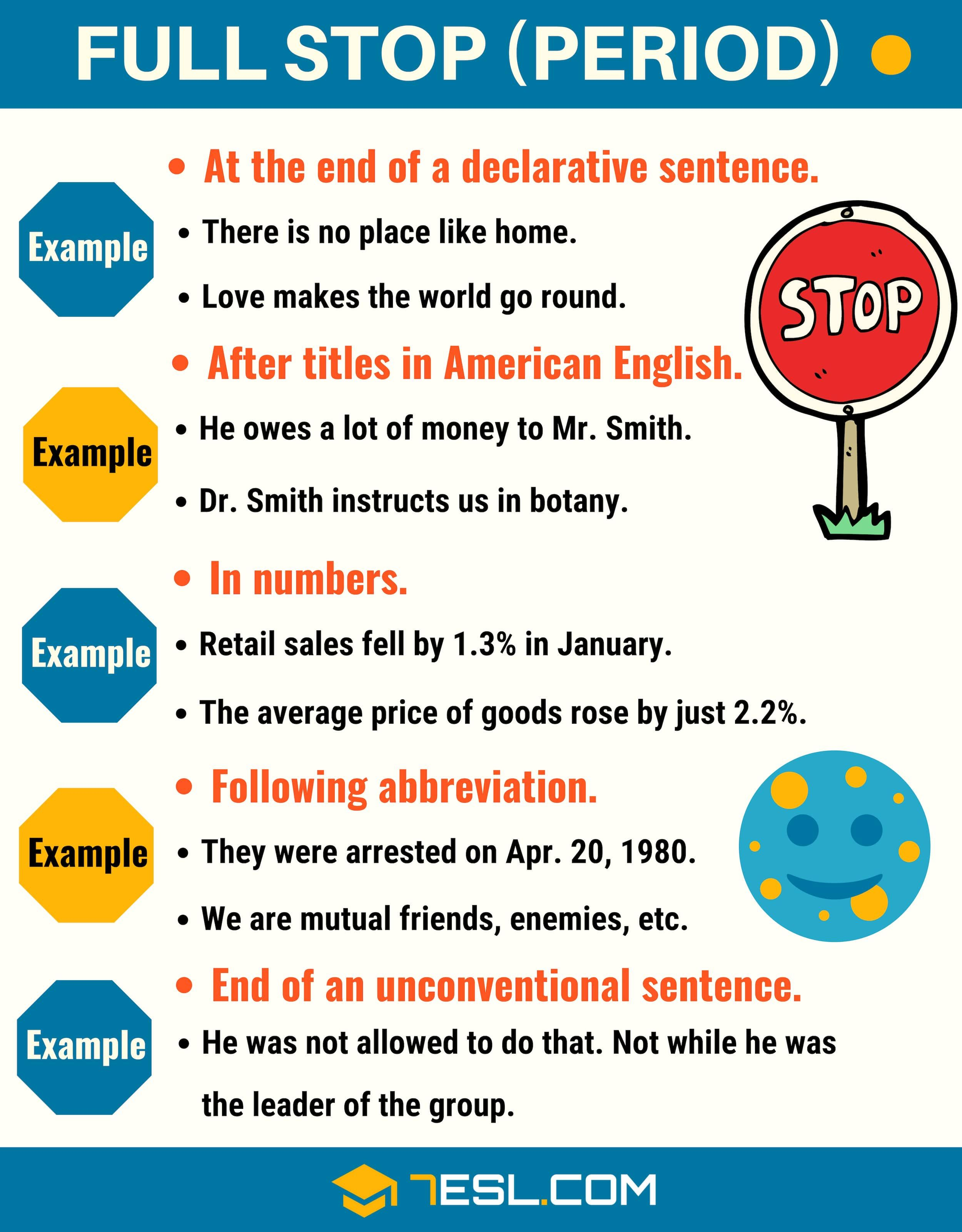 Full Stop (.) When to Use a Full Stop (Period Punctuation