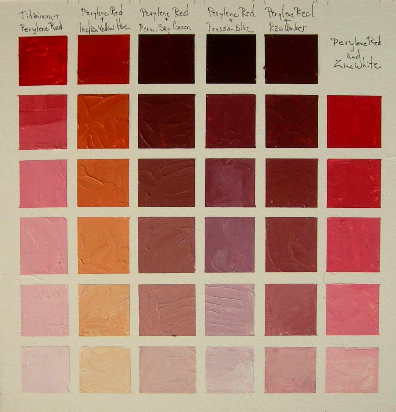 Acrylic Color Chart Color Mixing Chart Make A Color Palette