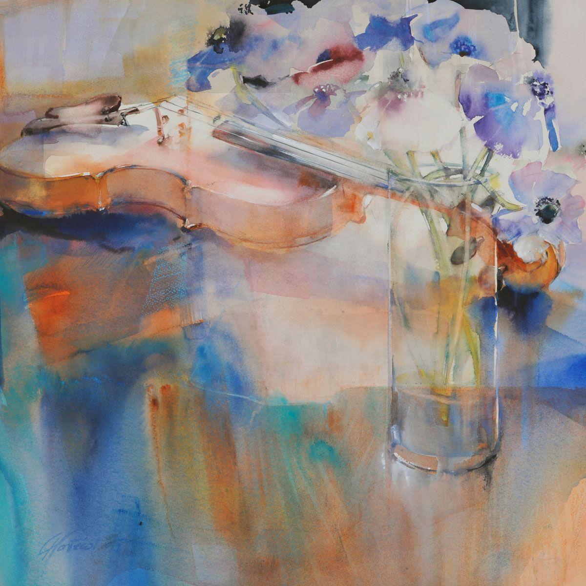 L Echappee Bleue Aquarelle Abstraite Comment Peindre Aquarelle