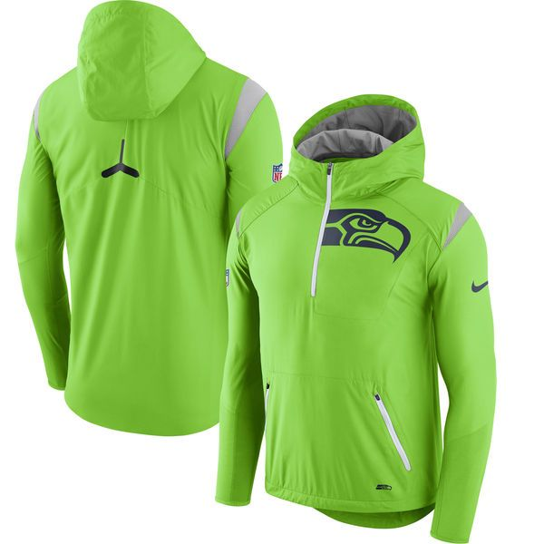 brand new 0fa11 47ff0 Seattle Seahawks Nike Sideline Fly Rush Half-Zip Pullover ...
