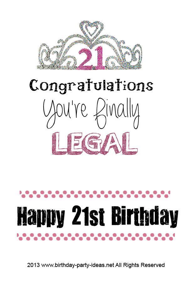 21st Birthday Party Ideas 21st Birthday Quotes Happy 21st