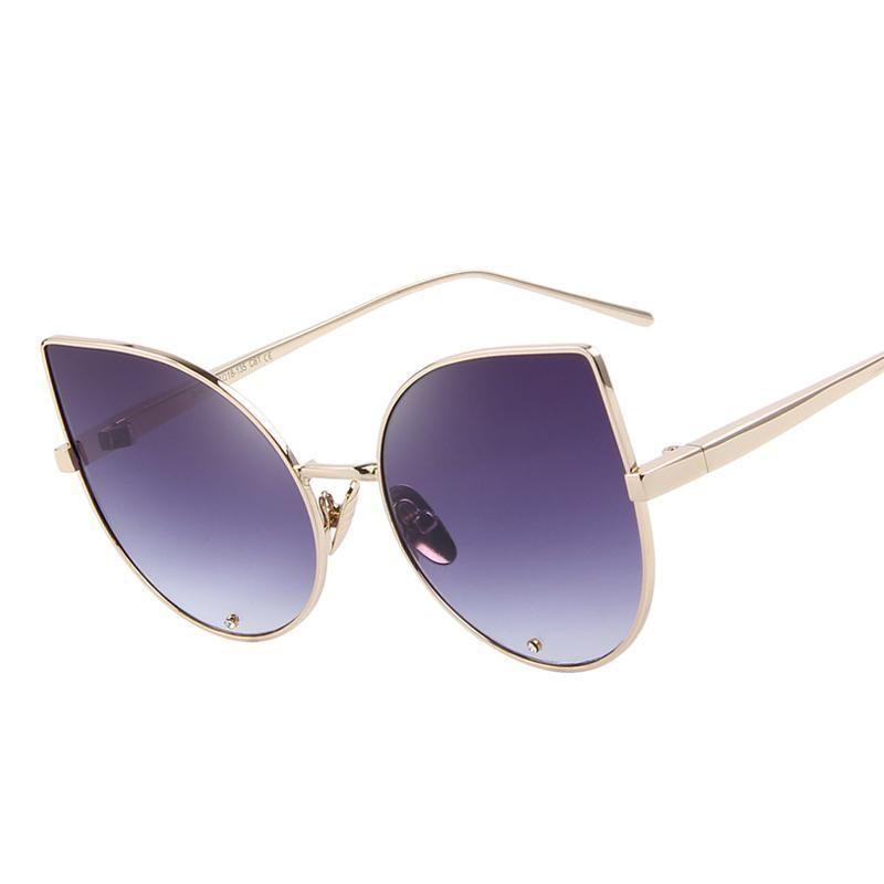 dddade0d81c71 Merry s النساء أزياء ماركة مصمم النظارات الشمسية الكلاسيكية خمر التوأم  الشعاع الإطار المعدني النظارات s 8014