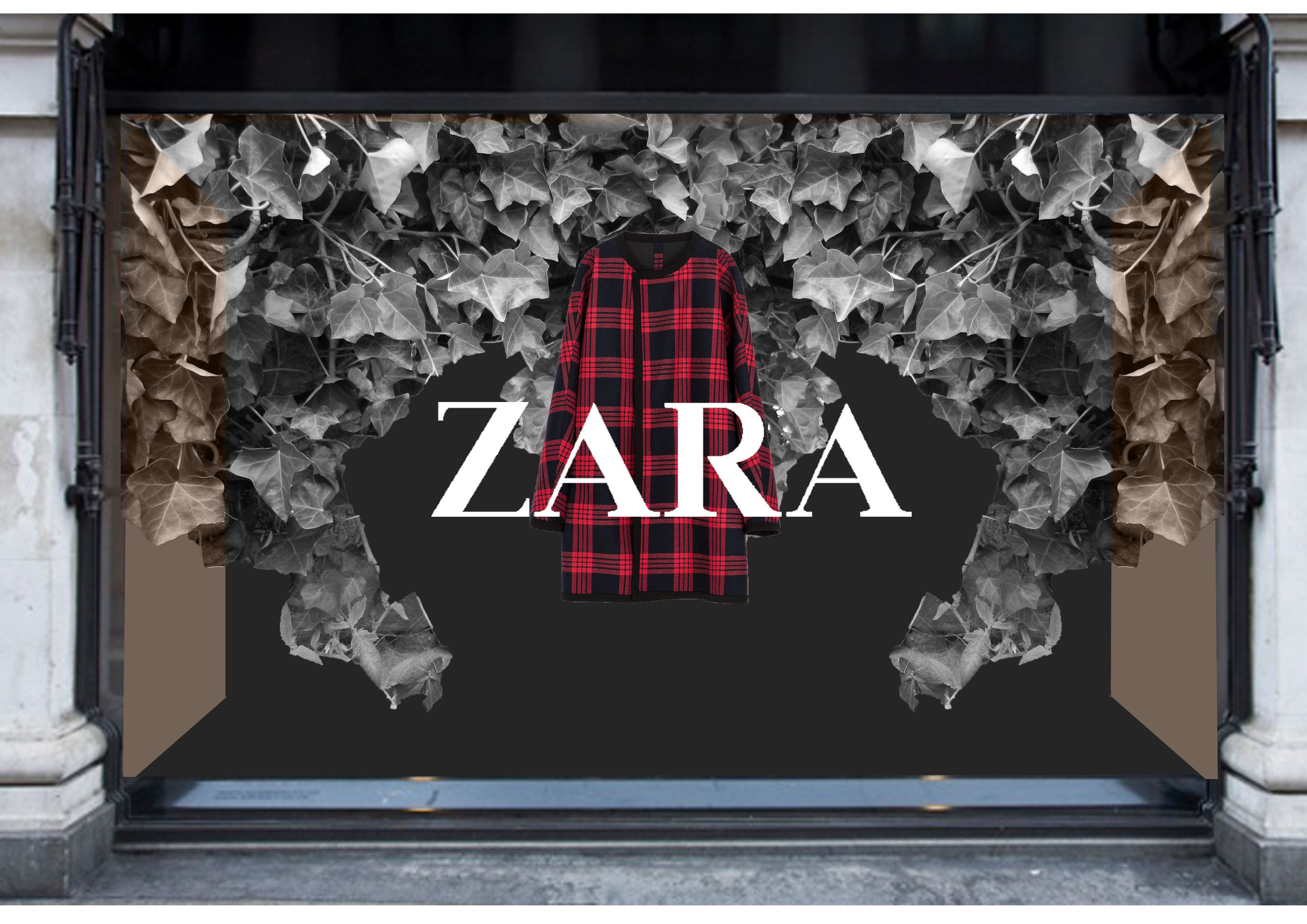 Zara poster design - Zara Window Display Cad