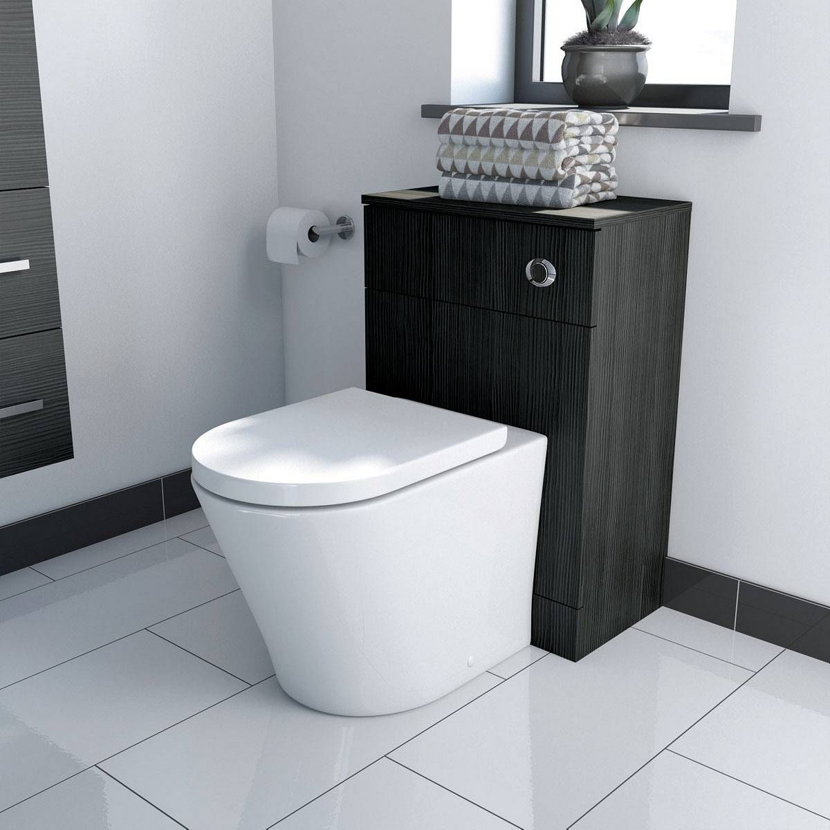 Bathroom Accessories Victoria Plumb drift grey back to wall unit - https://victoriaplum/product