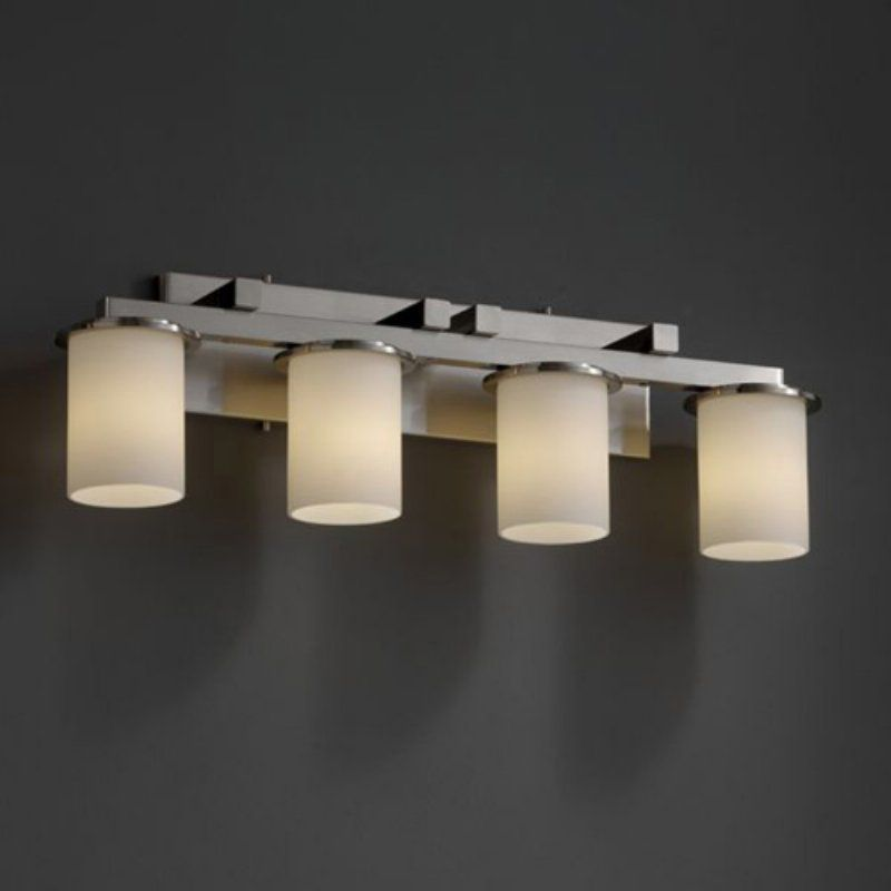 Justice Design Bathroom Lighting Justice Design Group Fsn8774  Dakota 4 Light Straight  Bar Bath