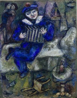 Accordion, 1912/1914 gouache and colored pencil on paper, 67 × 52.3 cm