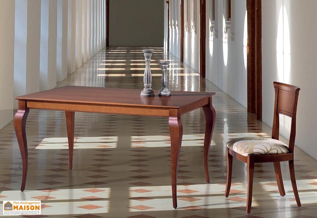 Salle à Manger en Hêtre Massif  Table Extensible 140 200x90 Ambar +