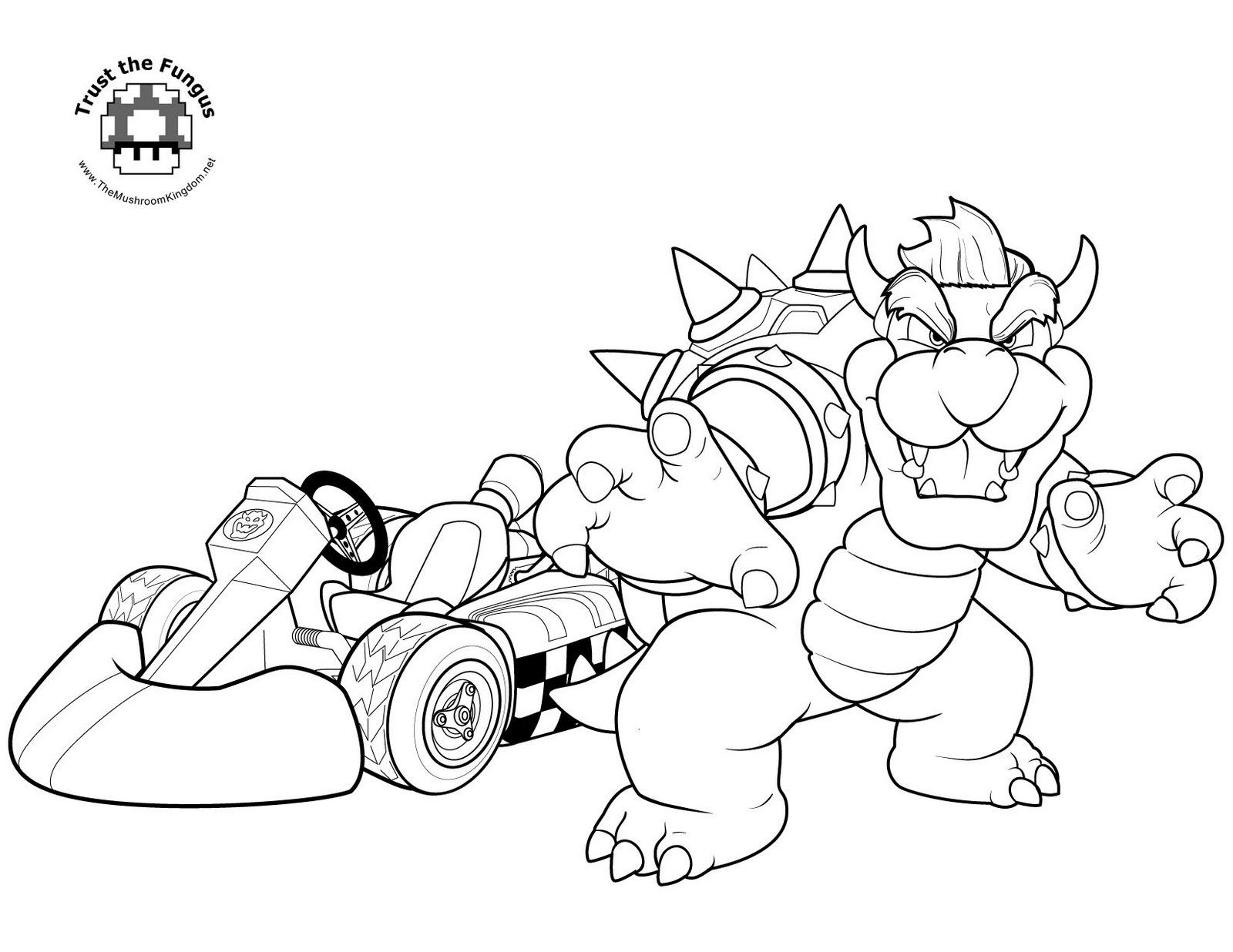 Coloriage Yoshi Voiture  40 Coloriages Mario A Imprimer ...