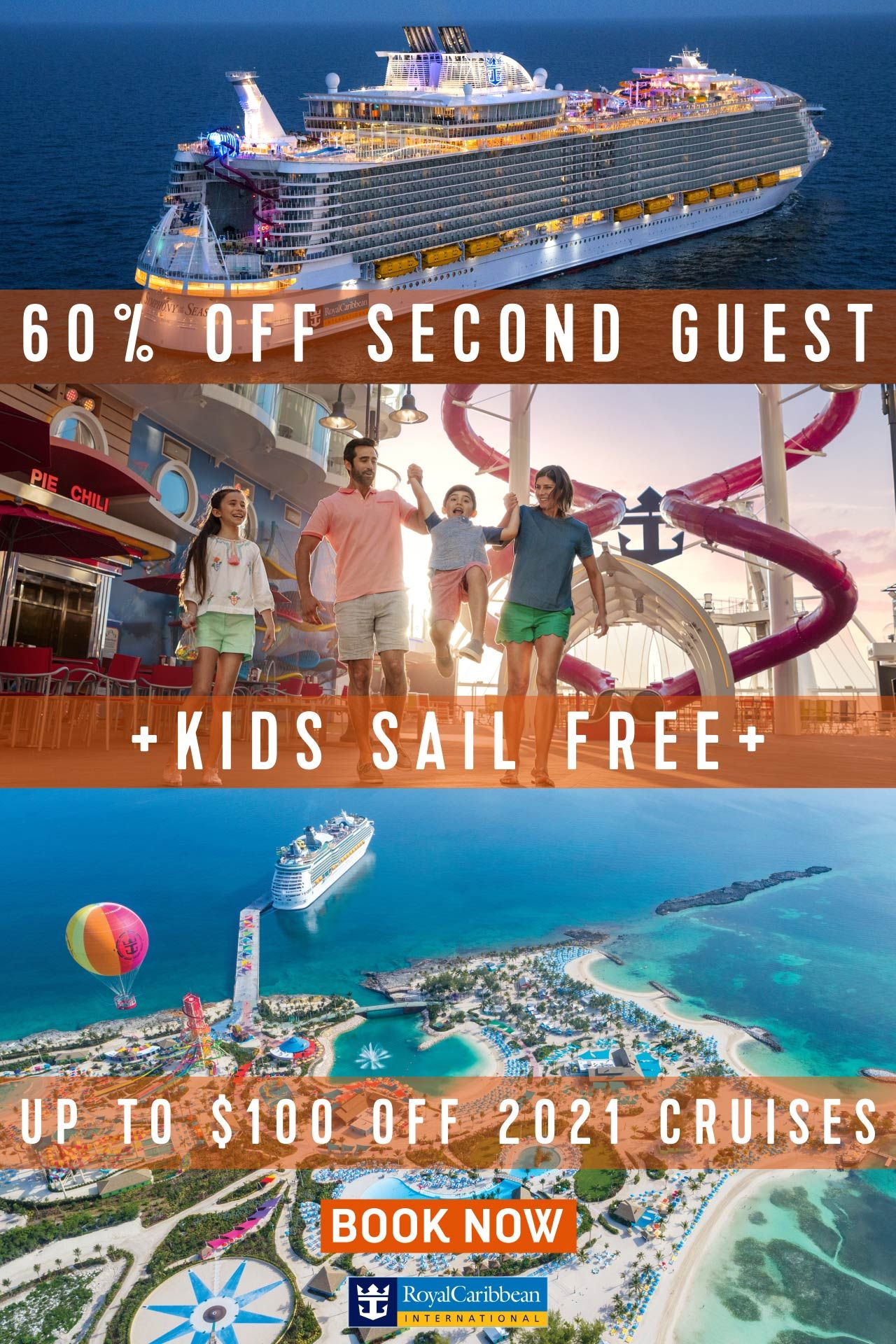 Book Now And Get 60 Off Your Second Guest Up To 100 Off In 2020 Royal Caribbean Cruise Lines Best Cruise Deals Best Cruise Lines