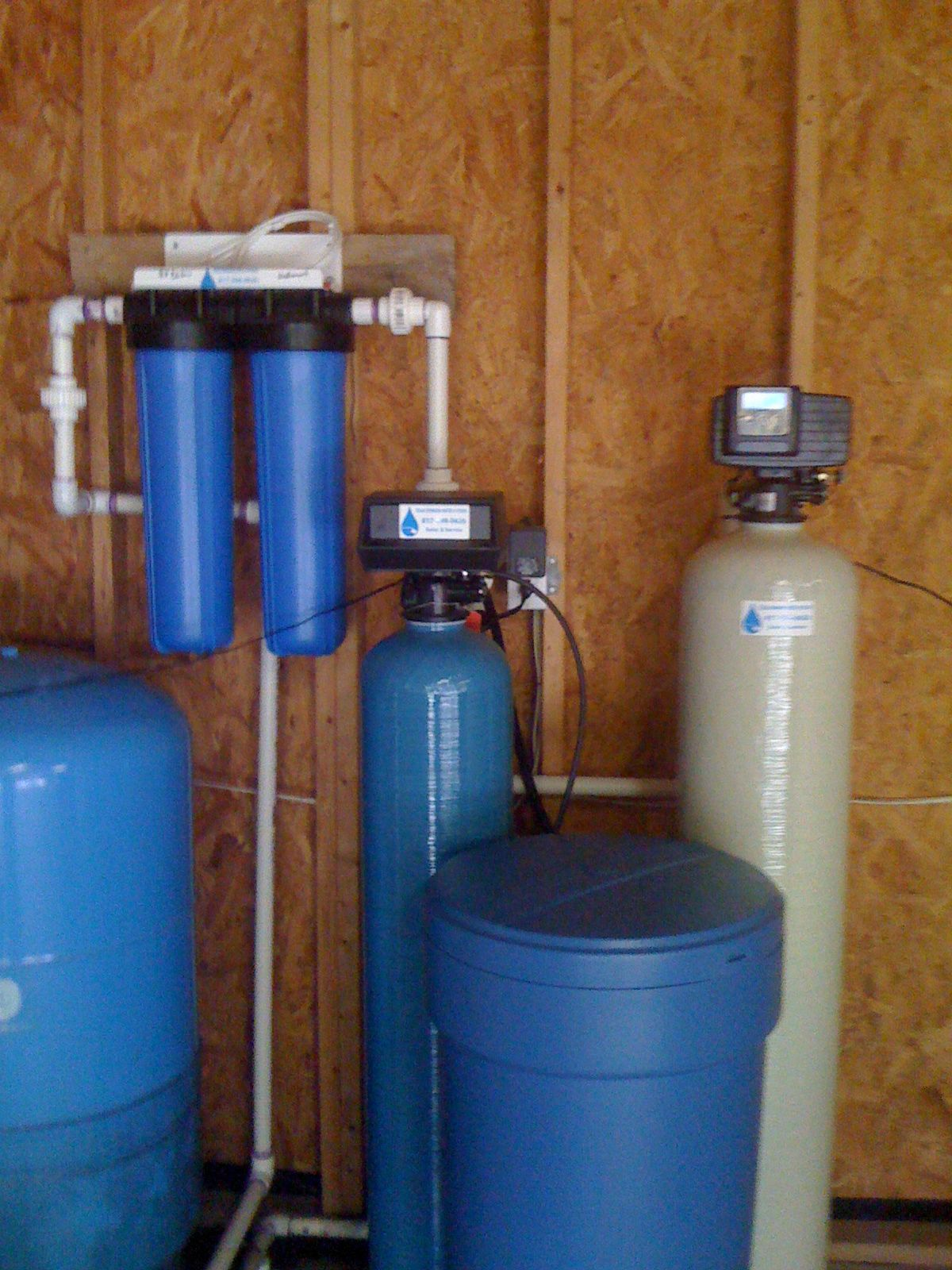 A Water Softener A Iron Breaker For The Rotten Egg Smell A Sediment Filter A Finish Carbon Water Softener Water Storage Water Treatment