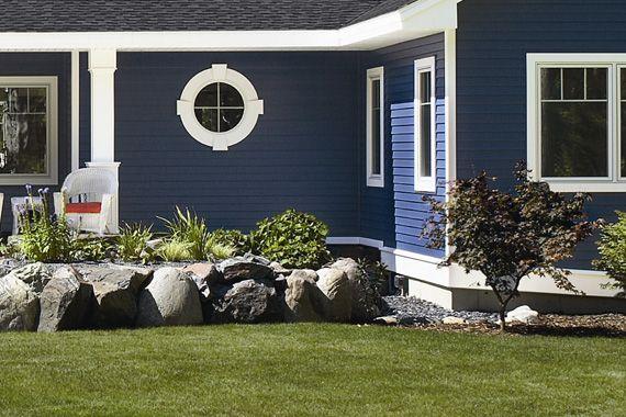 Best Love The Dark Blue Siding Exterior Siding Options House 400 x 300